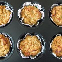 Muffinki owsiano-dyniowe z jabłkiem