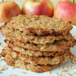 Placki owsiane z jabłkami i gruszkami