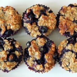 Muffinki owsiane z borówkami