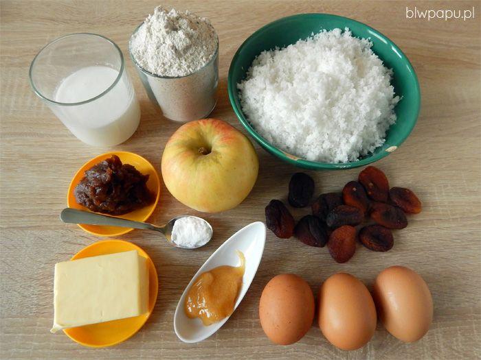 Ciasto z wiórkami kokosowymi, bez cukru