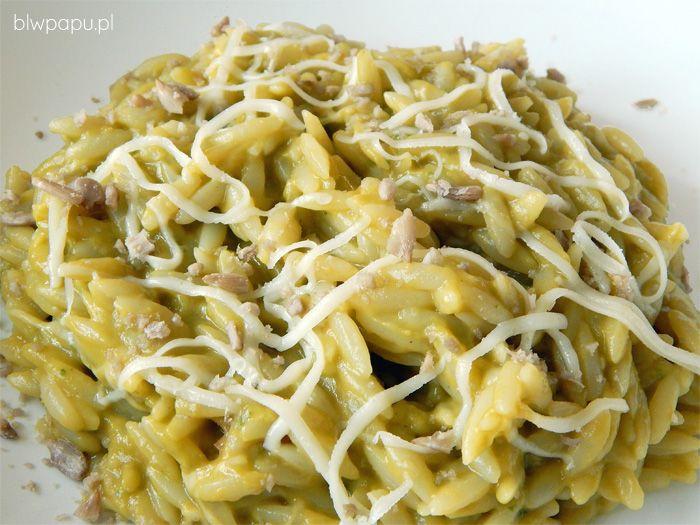 Makaron z sosem z awokado, ekspresowy i zdrowy