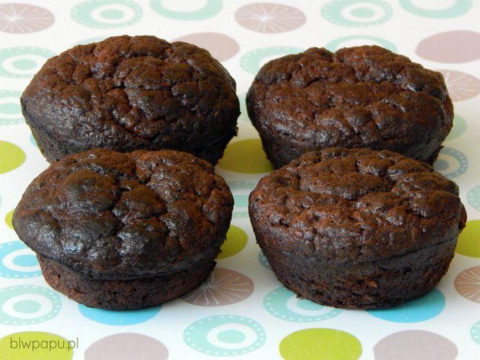 Muffinki czekoladowo-bananowe, bez glutenu, cukru, sody i proszku