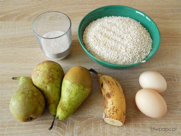 Muffinki z gruszek i amarantusa ekspandowanego - składniki