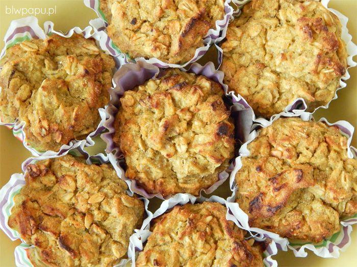 Muffinki dyniowe z płatkami owsianymi i jabłkiem