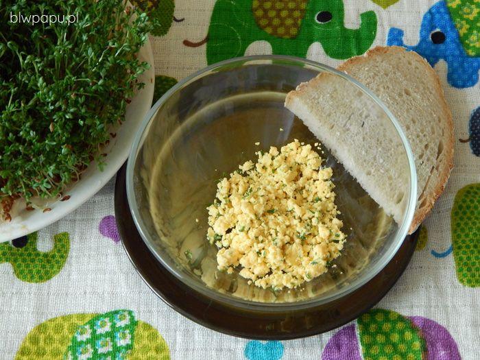 Pasta z żółtka i oliwy z rzeżuchą