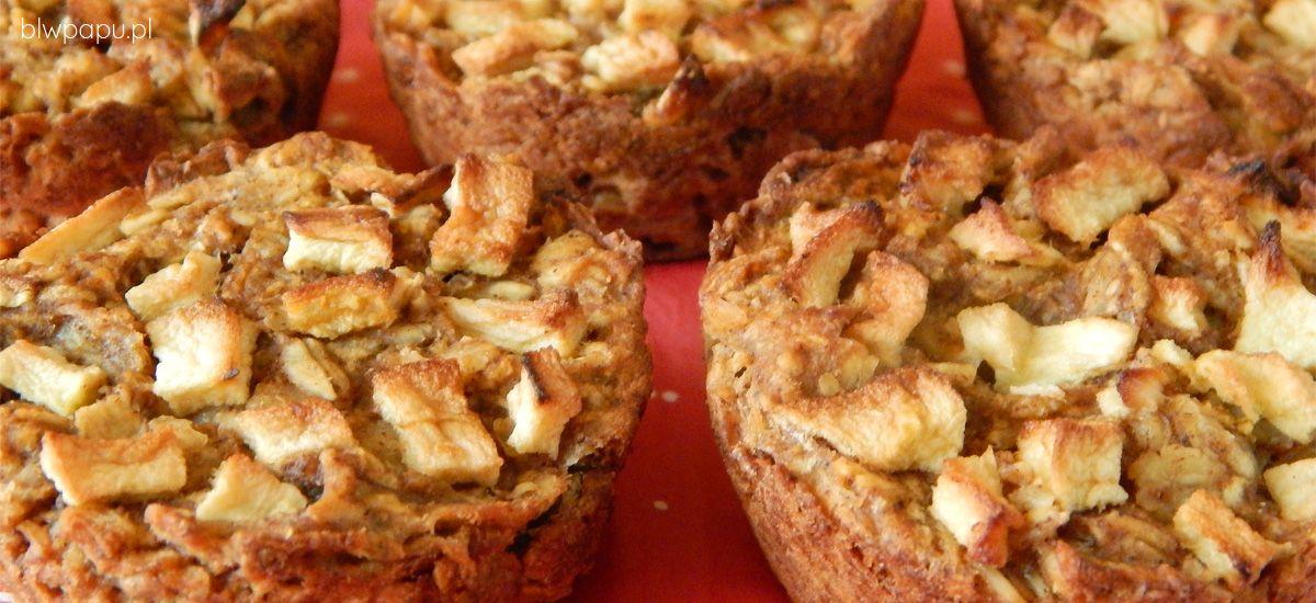 Piernikowe muffinki owsiane z jabłkami