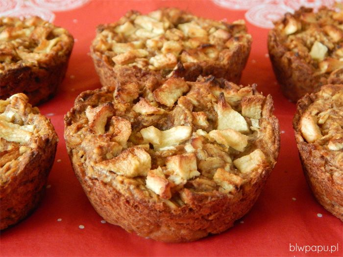 Muffinki owsiane z jabłkiem, piernikowe