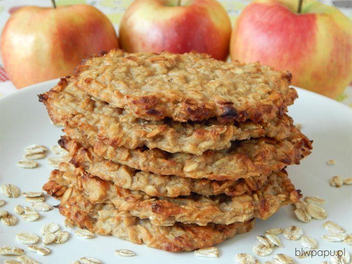 Pieczone placuszki owsiano-jabłkowo-gruszkowe