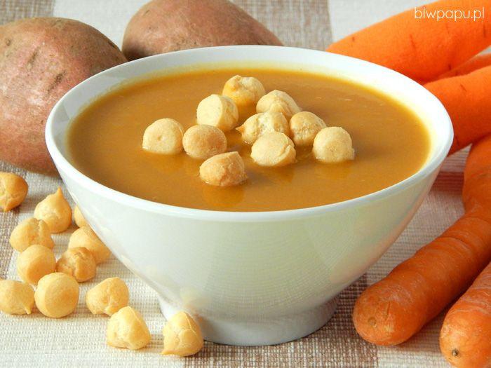 Zupa-krem z batatów, marchewki, imbiru